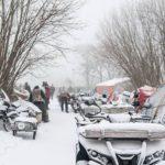 italiainpiega-motoraduno-Winter-Treffender Motorradfahrer